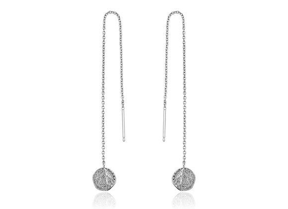 Silver Deus Threader Earrings
