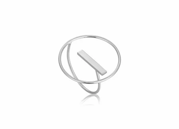SILVER MODERN CIRCLE ADJUSTABLE RING
