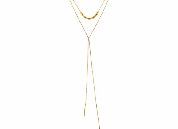 Gold Links Lariat Necklace