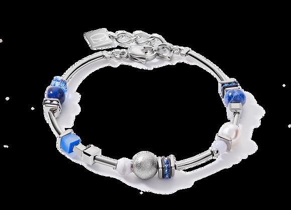 Coeur de Lion Armband silber-blau