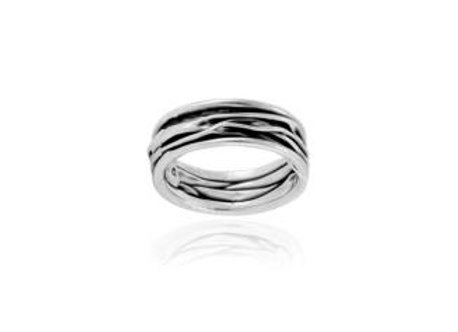 Pakilia Silber Ring Corrugado