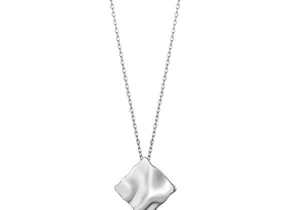 Silver Crush Square Necklace