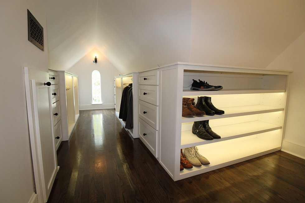 Residential Home Redesign - Attic Closet