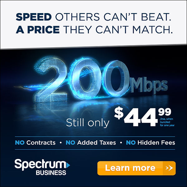 Spectrum Business 200Mbps digital banner ad