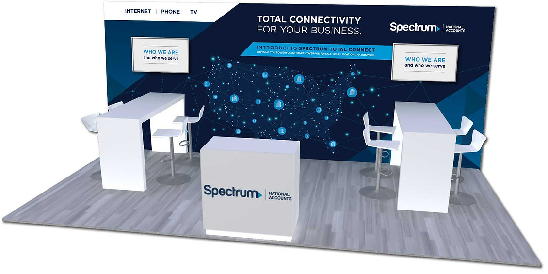 Spectrum Total Connect tradeshow booth