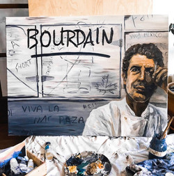 "Anthony Bourdain - Oil on Canvas (36"" x 48"")"
