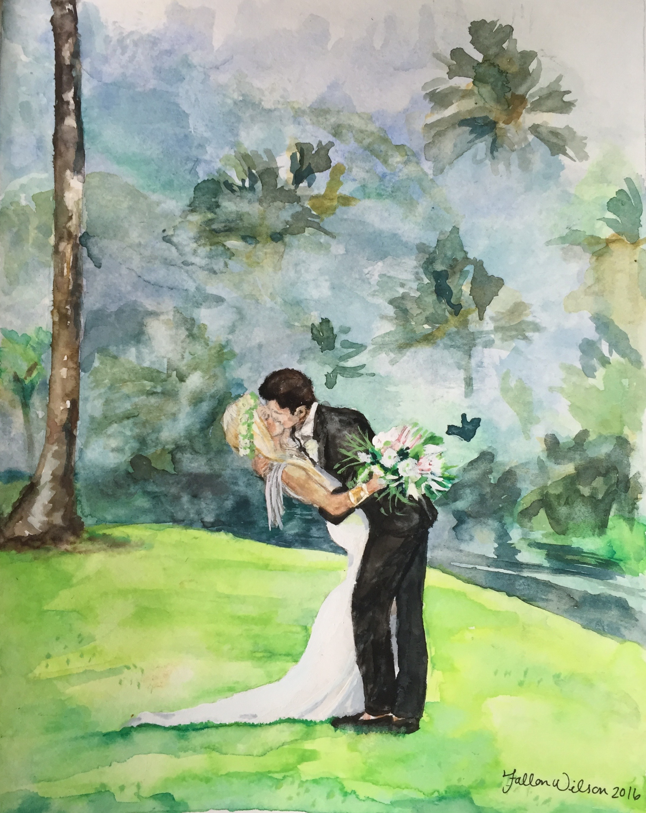 Hawaii Wedding - Watercolor