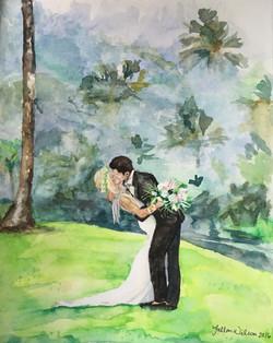 Hawaii Wedding - Watercolor