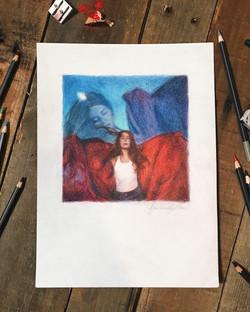Maggie Rogers Concept - Colored Pencil