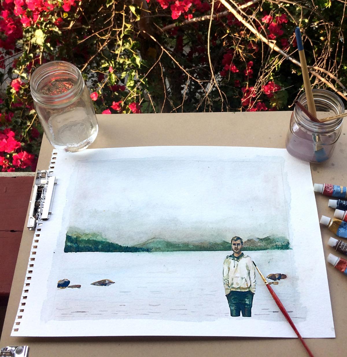 Landscape Portrait - Watercolor