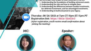 August 26th, 2021 - Financial Literacy Webinar