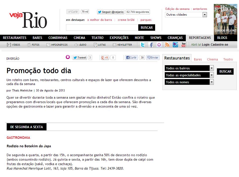 Veja Rio online 2.09.13