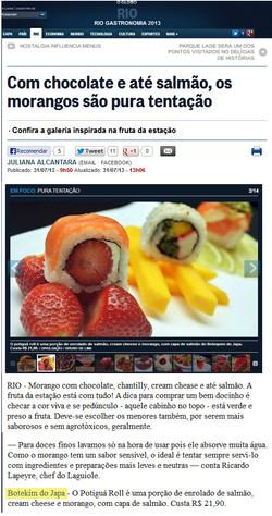 Rio Gastronomia O Globo 31.07.13