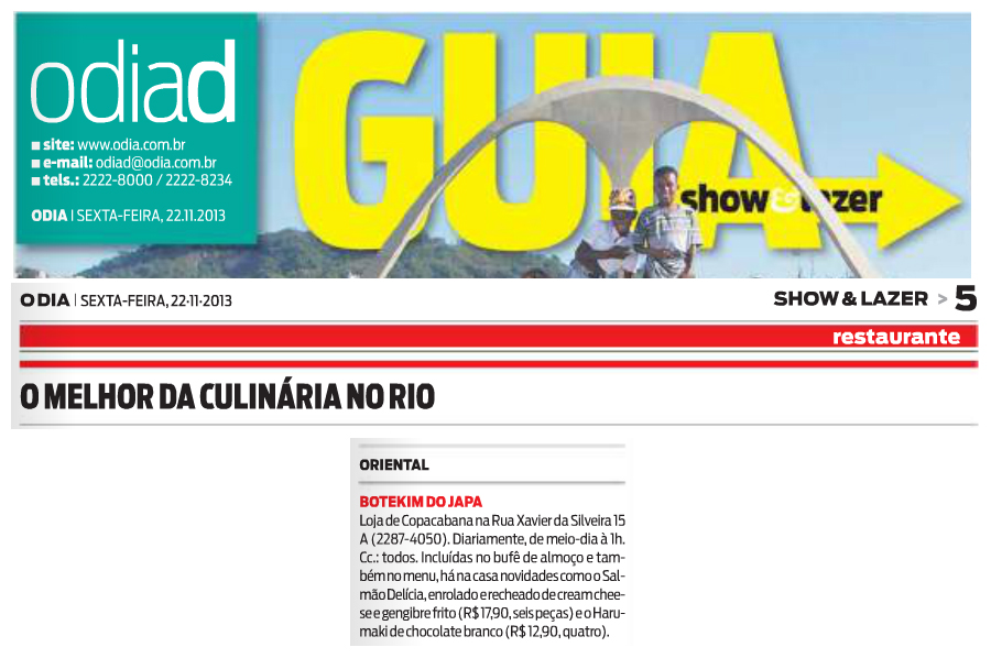 O Dia Guia Show & Lazer 22.11.13