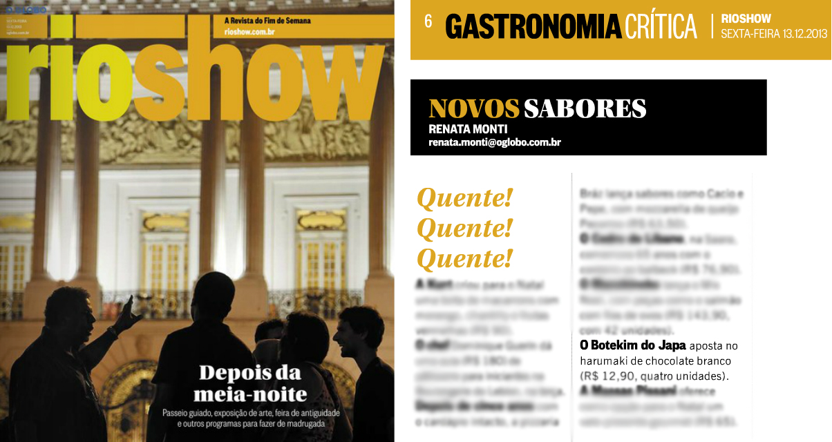 Rio Show O Globo 13.12.13