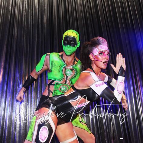 Cyber futuristic Dancers roving gogo_clu