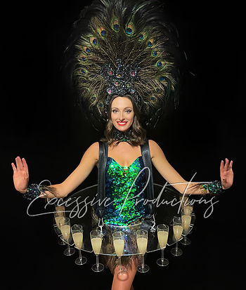 Peacock Showgirl Living Table Roving Ent