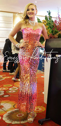 Pink SIlver Gold Gown