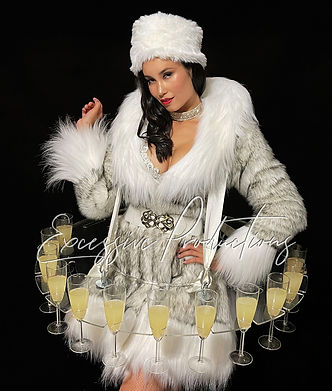 Winter Wonderland Showgirl Living Table