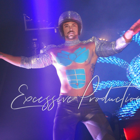 Cyber futuristic Dancers roving shows sp