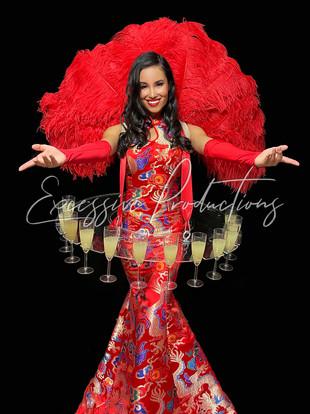 CNY Luna New Year Asian Showgirl Living