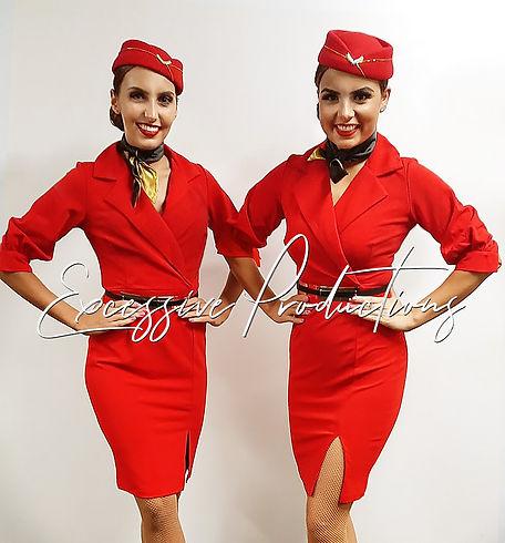 Travel Air Roving Entertainment hostess.