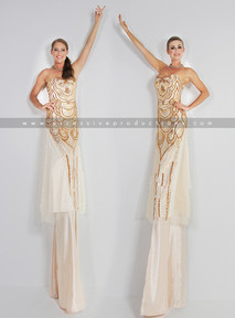 Gold & Cream Stilts