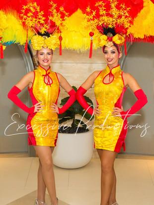 Roving Golden Chinese New Year Showgirls