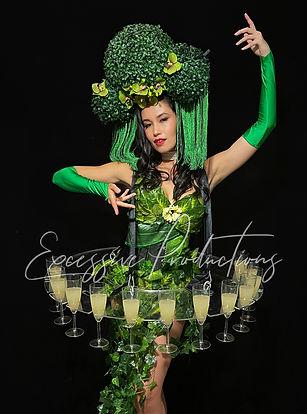 Botanical Floral Showgirl Living Table R
