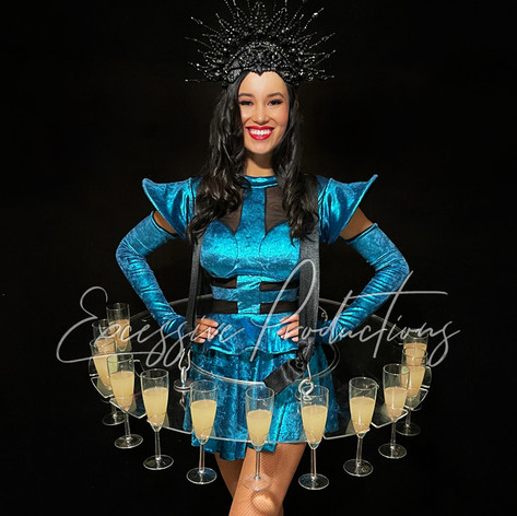 Cyber Futuristic Showgirl Living Table R