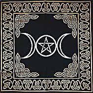 Triple Goddes Pentacle Altar Cloth