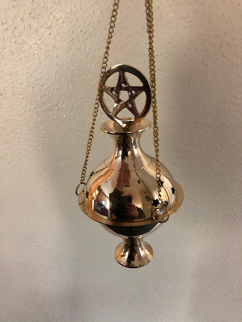 Hanging Brass Incense Censer