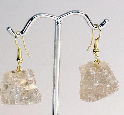 Rough Rutilated Quartz Earrings