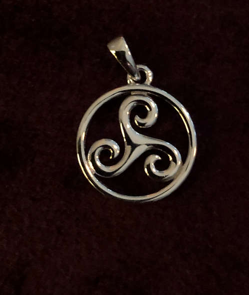 Sterling Silver Triskele Charm