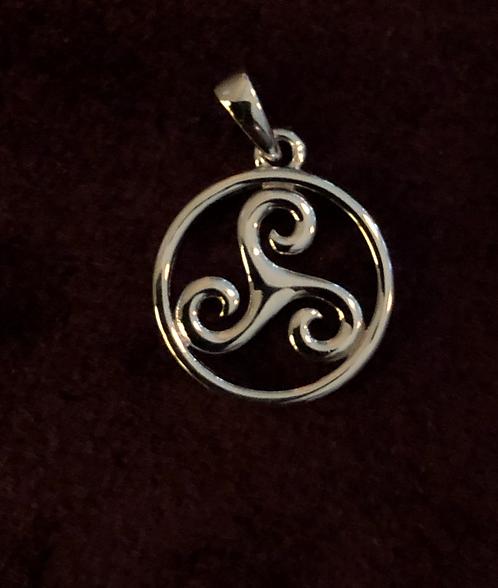 Sterling Silver Triskele Charm
