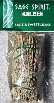 Sage & Sweetgrass Smudge Stick - 5 Inches