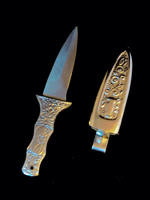 Engraved Silver Athame
