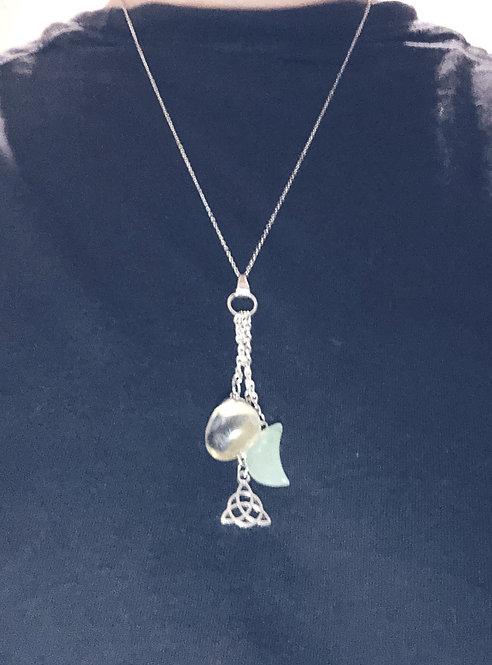 Aventurine & Quartz Charm Necklace
