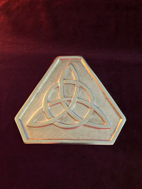 Triquetra Altar Tile/ Charging Plate