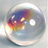 Aura Crystal Ball with wooden stand (80mm)