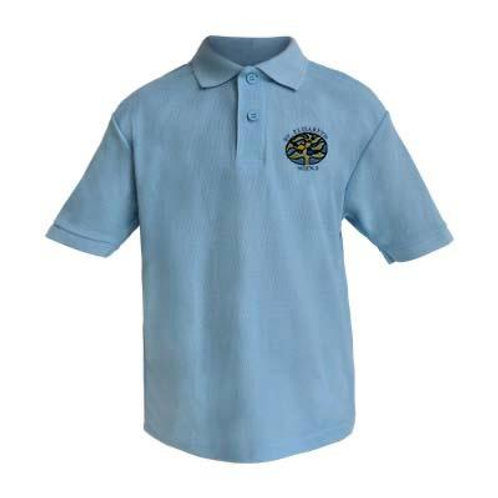 Poloshirt kurzarm mit Schullogo
