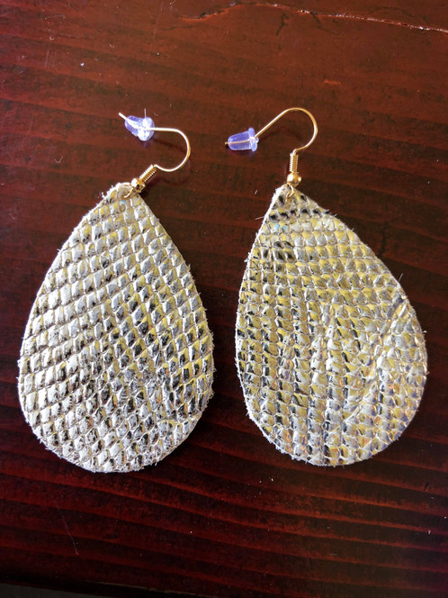 Metallic Snakeskin Earrings