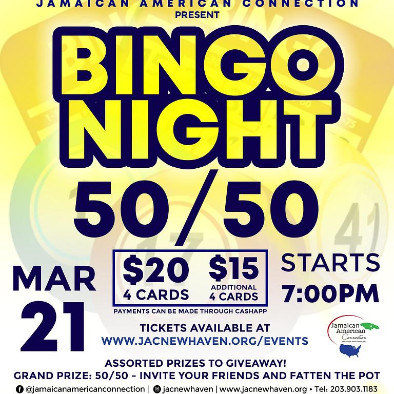 JAC 50/50 Bingo: The bigger the POT, the bigger the WIN!