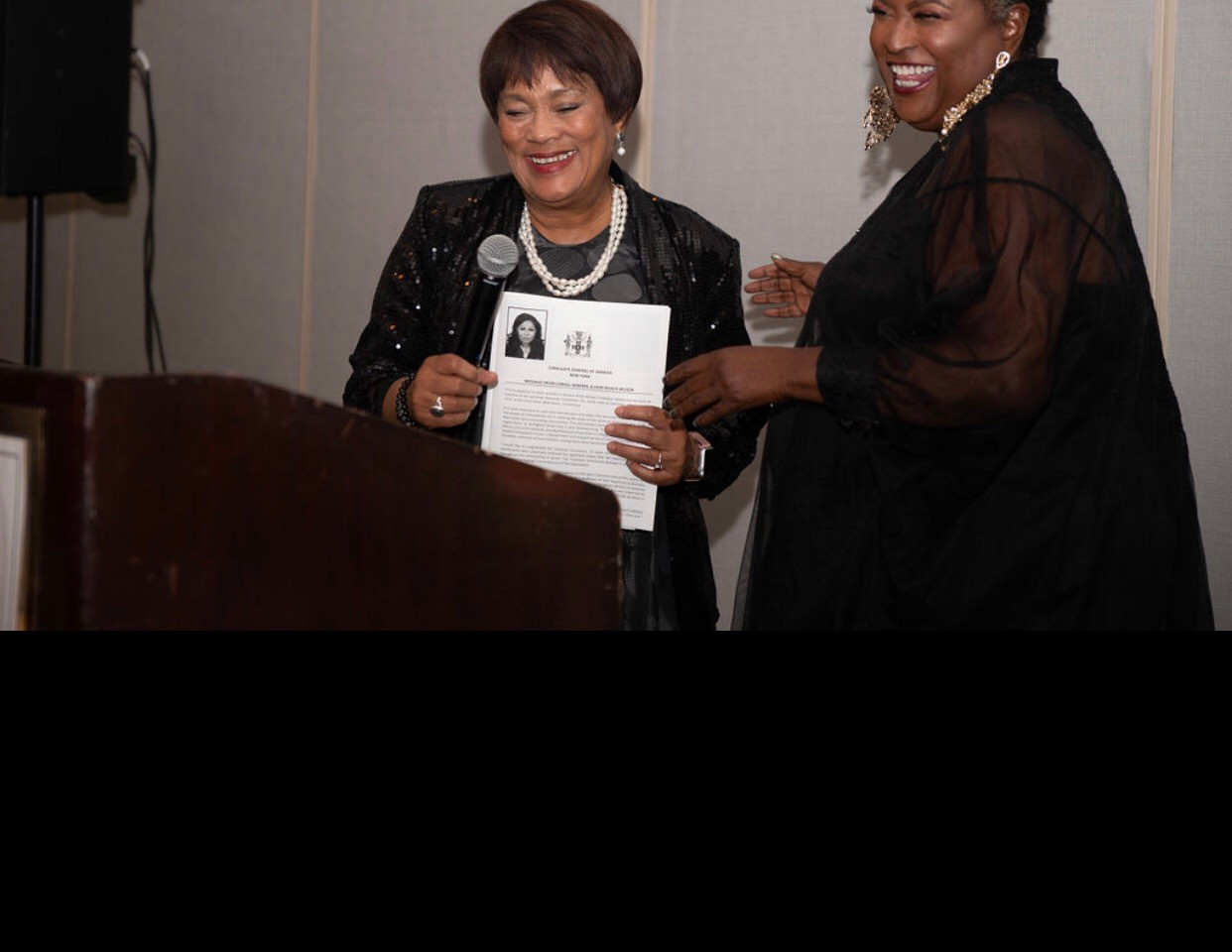 Mayor Harp and Babz Rawls-Ivy our Mistre