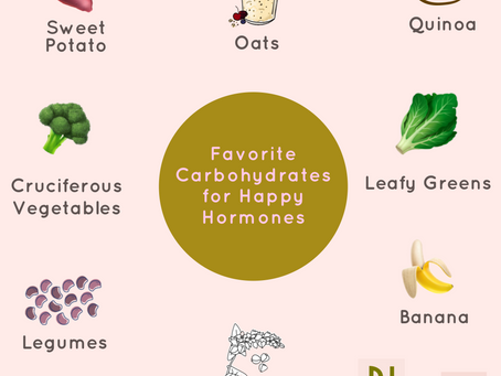our favorite Carbohydrates for happy hormones!