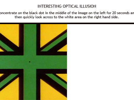 Optical Illusion that demonstrates colour blindness too.