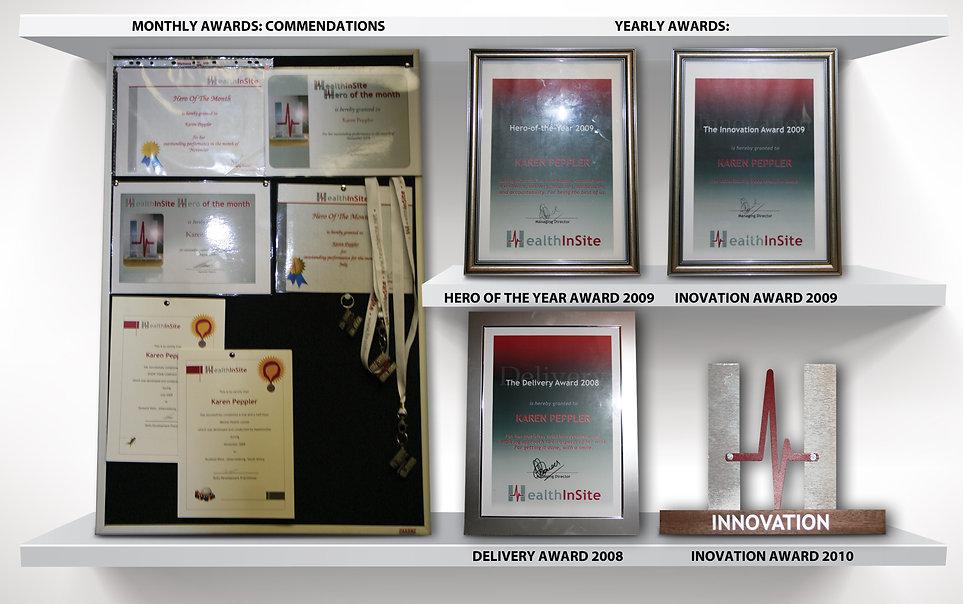 Awards from HealthInSite