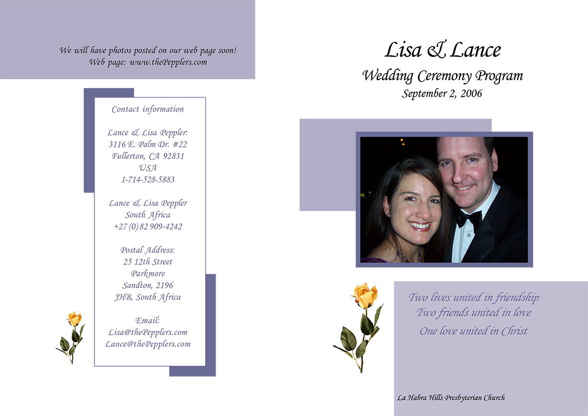 NC wedding Invite (front)