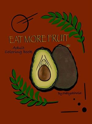 Eat more fruit coloring book