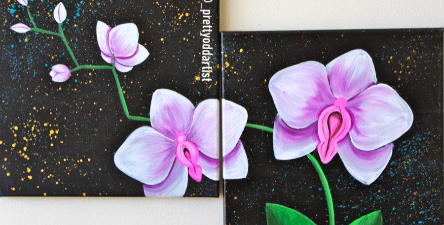 Pink Lips & Violet Petals